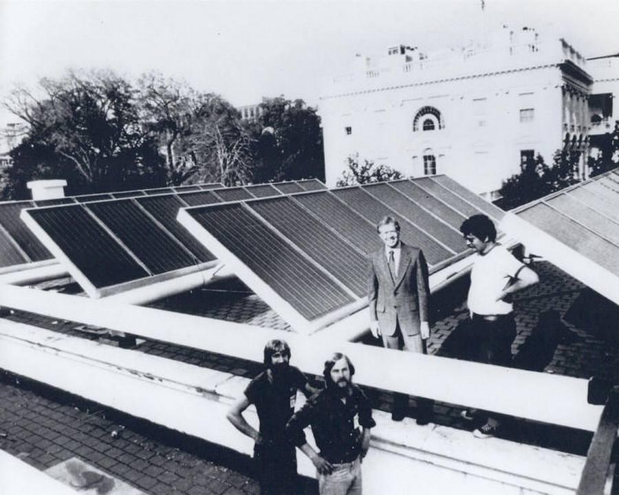 1979 carter solar panels                                       white house