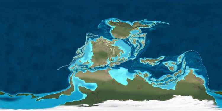 Carboniferous map