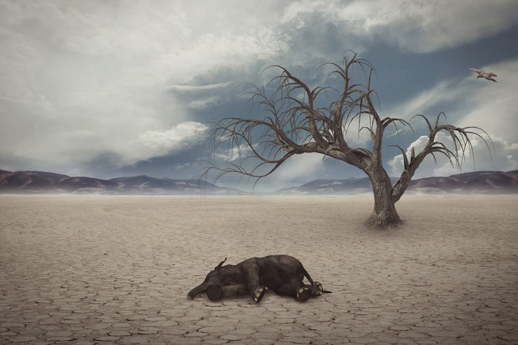 Artist's impression of global warming