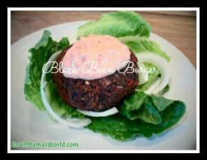 homemade veggie black bean burgers with spicy chipotle sauce