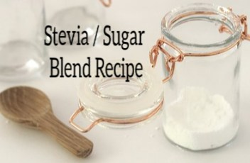 Stevia / Sugar Blend Recipe