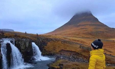kirkjufell iceland waterfall