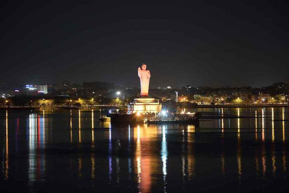 Hussain Sagar Buddha Statue, Hyderabad, India