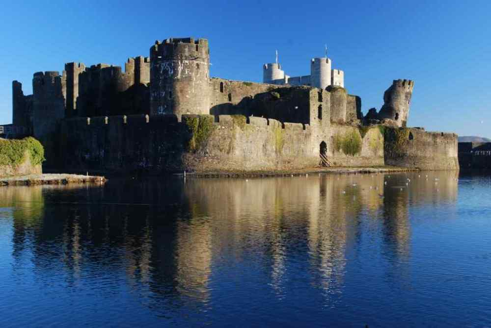 Caerphilly Castle, Caerphilly, Wales