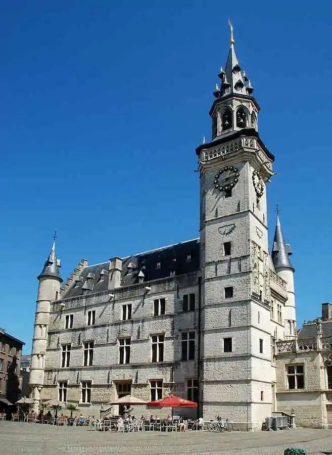 The belfry tower of Schepenhuis, Belgium