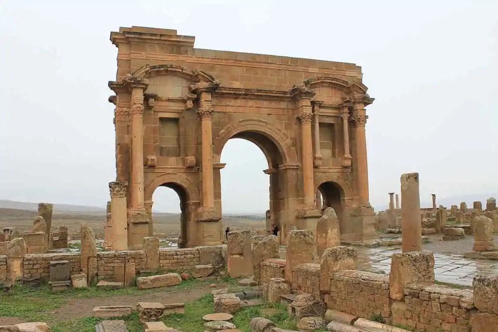 timgad arch, algeria