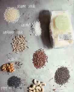 Vegan pantry nuts and seeds