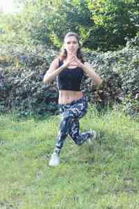 Curtesy Lunge Leg workout