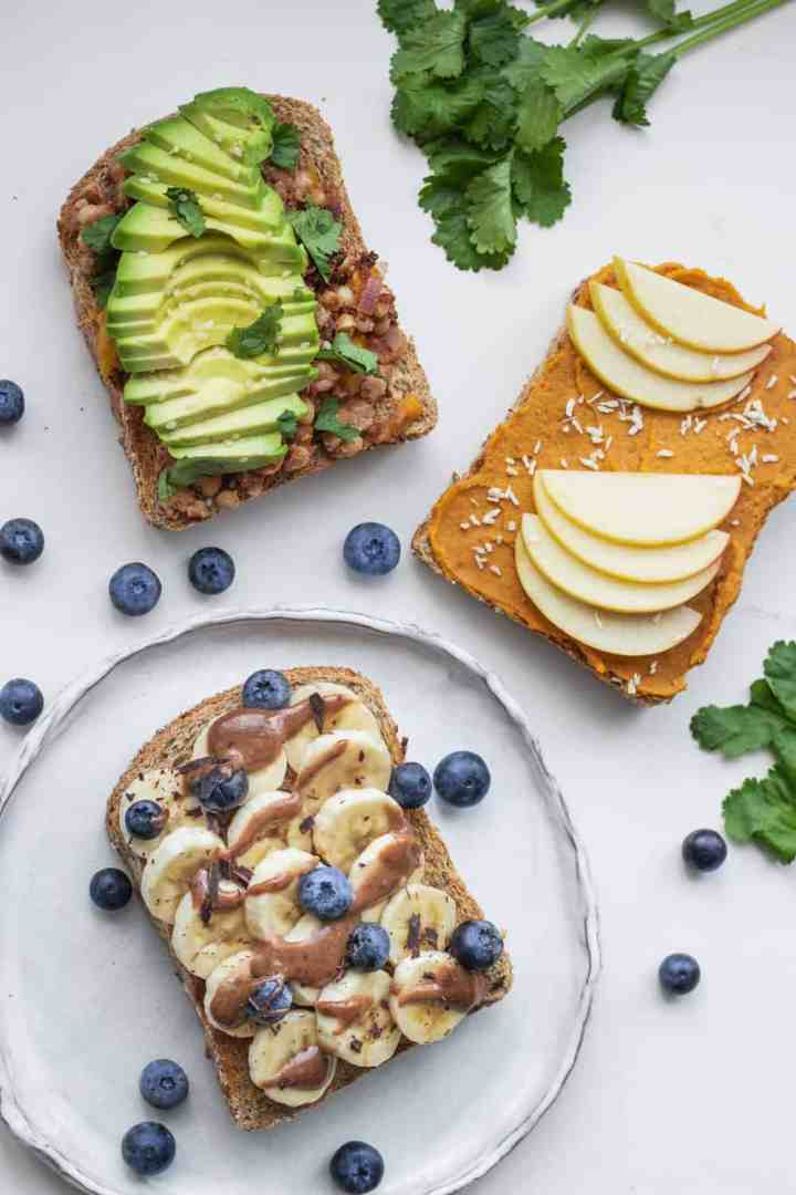 Healthy and easy vegan toast ideas