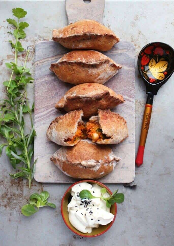 Russian Pirozhki With Two Potato Fillings (Vegan)