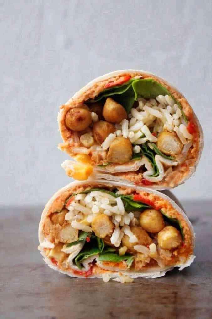 Vegan protein wrap