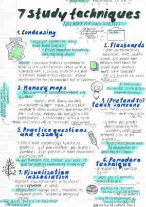 7 practical study techniques that can be used to remember information and prepare for exams in any subject. Read more at earthofmaria.com