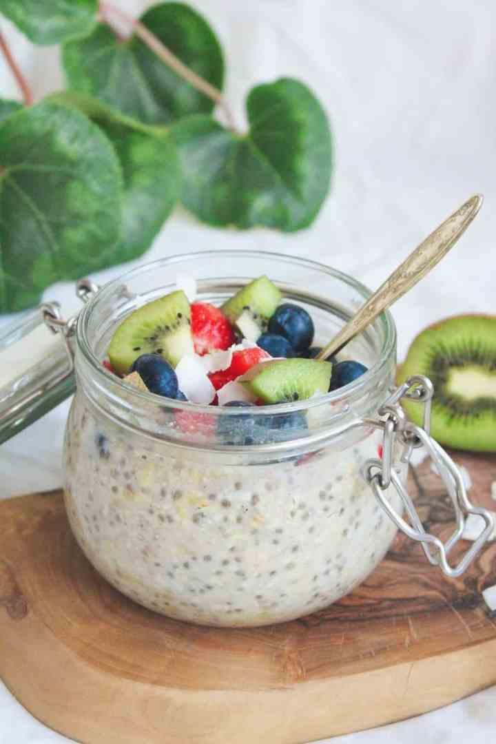 Simple chia overnight porridge recipe