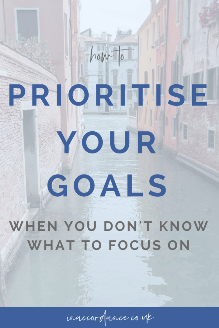 How To Prioritise Your Goals When You Don't know What To Focus On