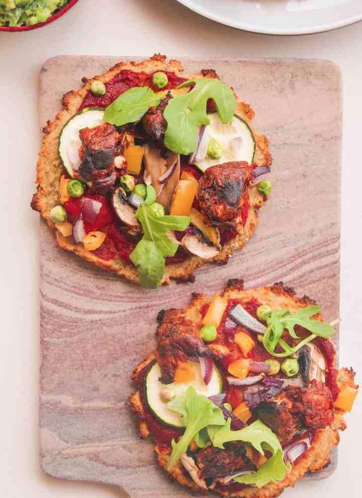 Mini Sweet Potato Pizzas With A Tangy Avocado Dip (Vegan)