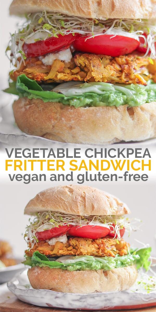 Vegan vegetable chickpea sandwich Pinterest