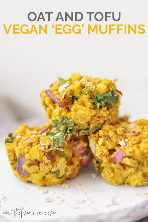 Oat and tofu vegan egg muffins Pinterest