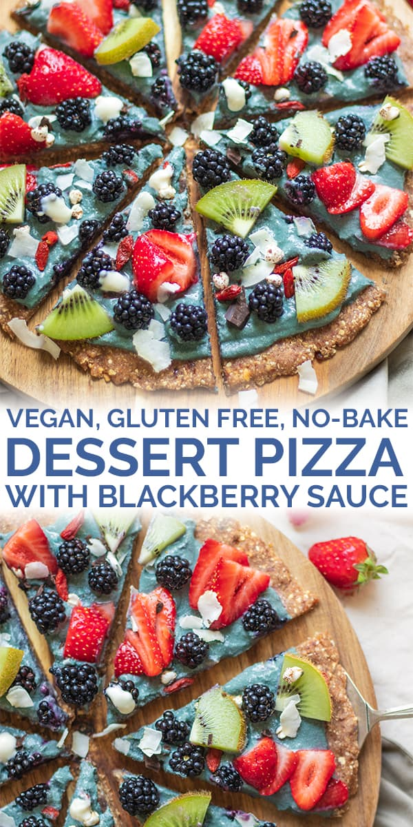 Vegan gluten-free no bake dessert pizza pinterest