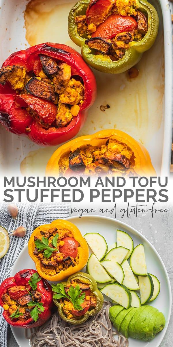 Mushroom and tofu stuffed peppers Pinterest