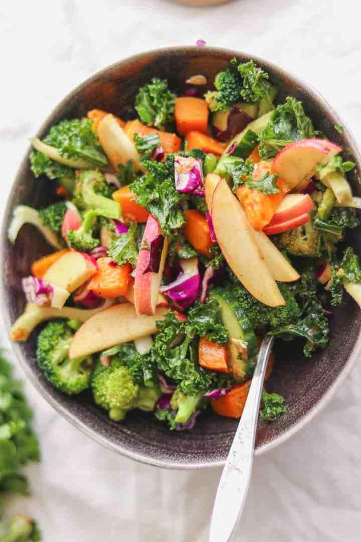 vegan gluten-free kale autumn salad
