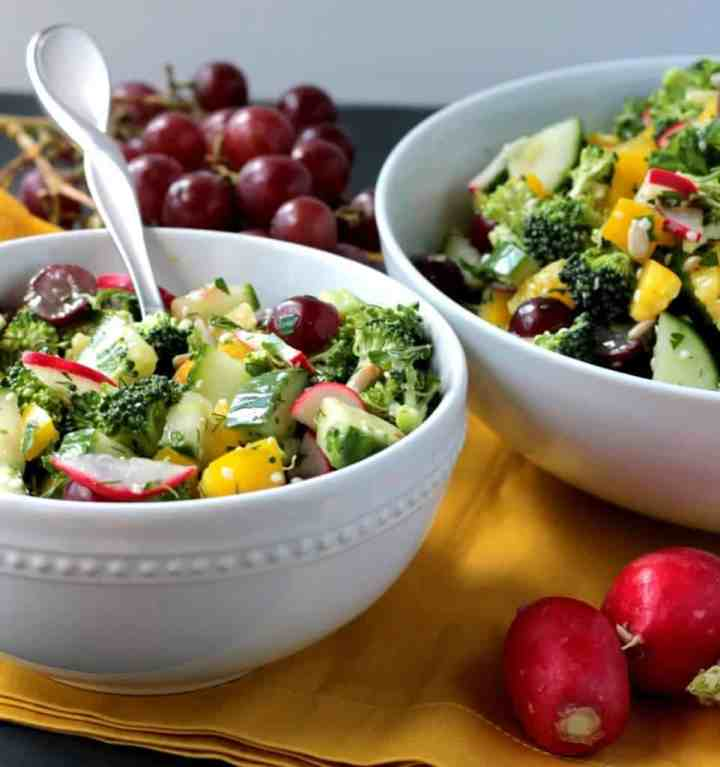 Raw Veggie Chopped Salad