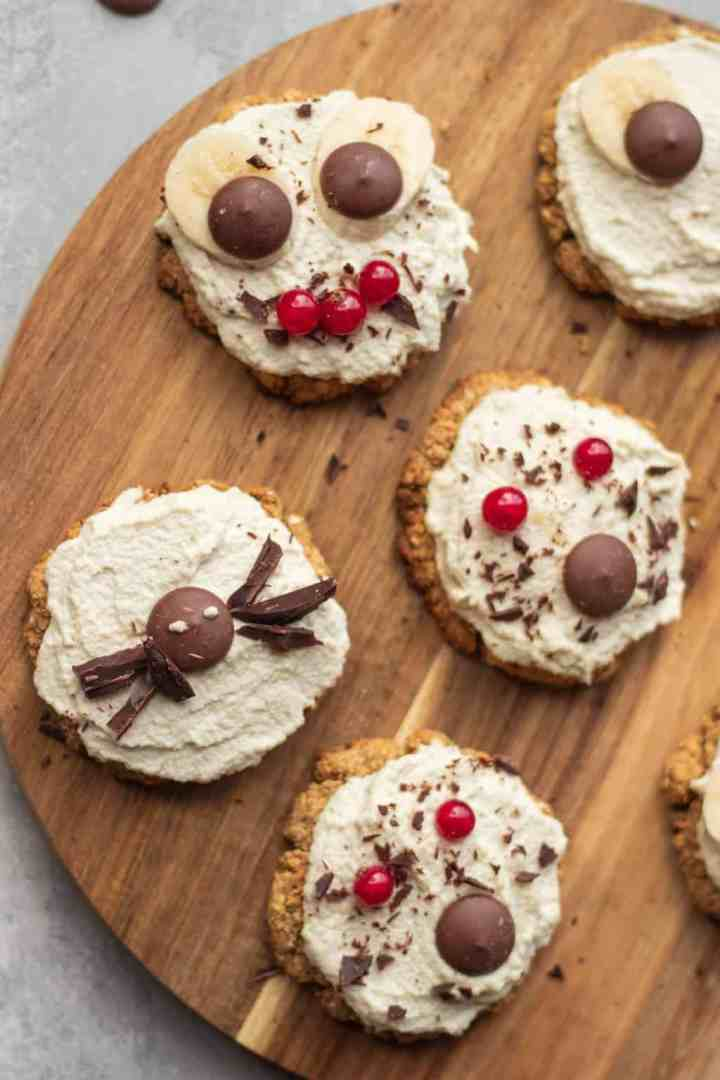 Spooky vegan Halloween cookies