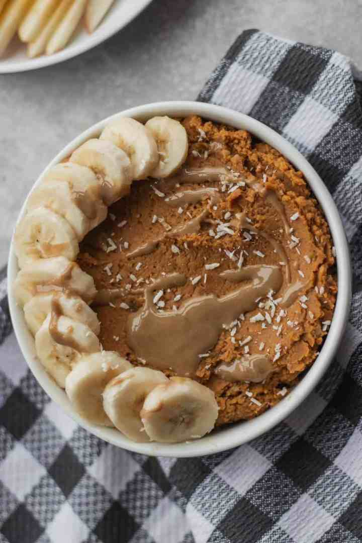 Sweet pumpkin hummus vegan and gluten-free