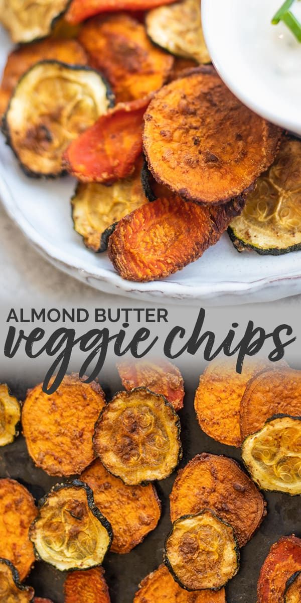 Almond butter veggie chips Pinterest