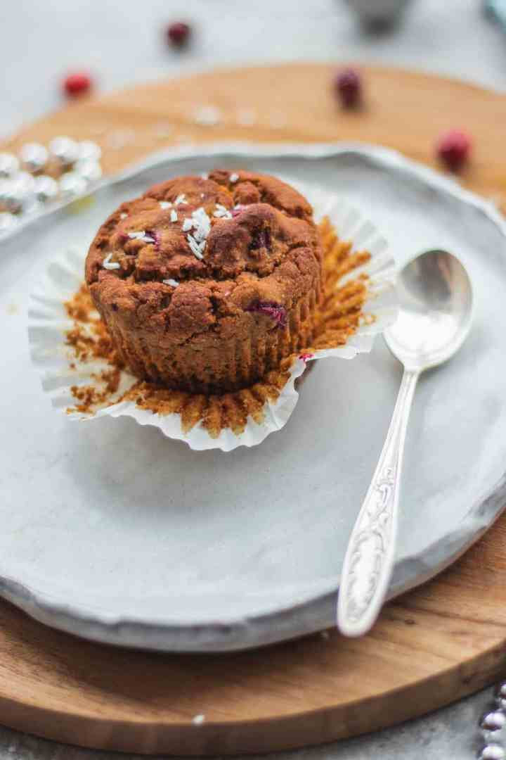 Cranberry orange muffins easy vegan
