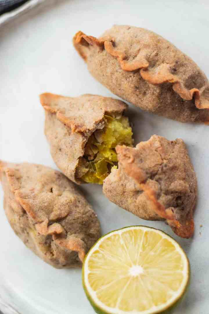 Russian piroshki recipe with mushrooms and potatoes gluten-free vegan