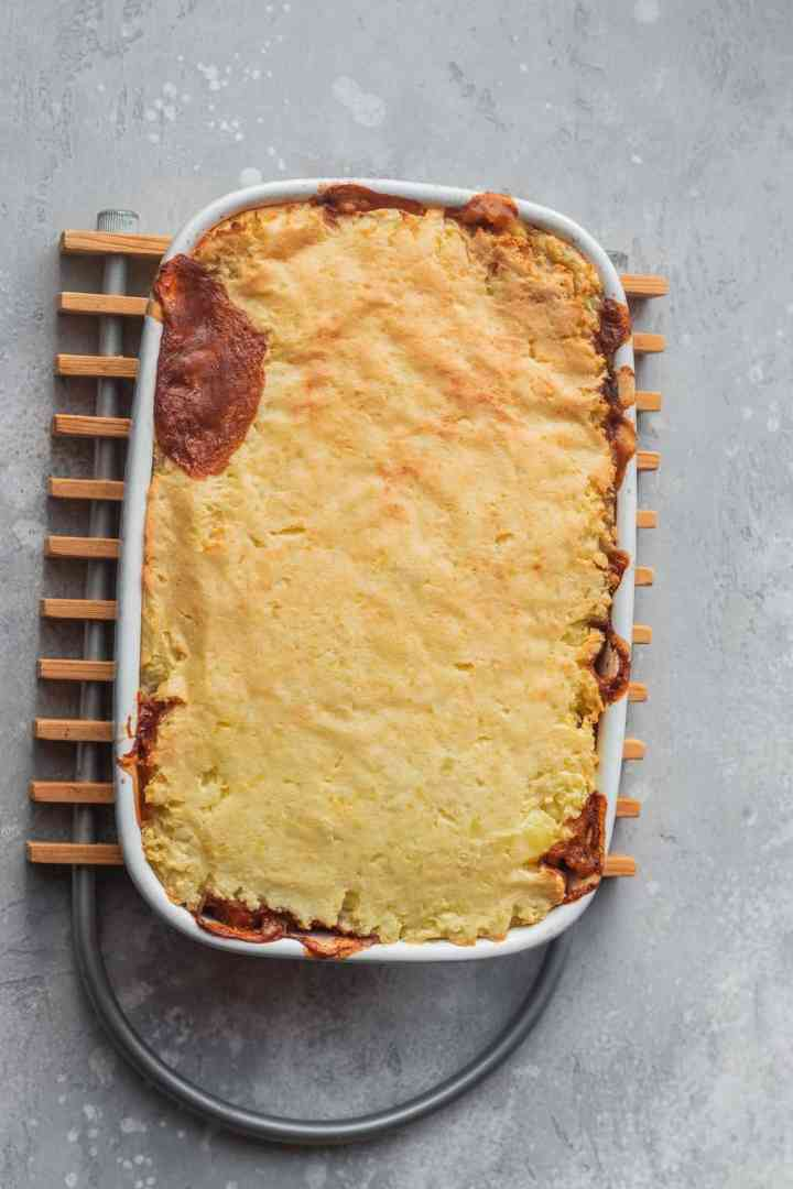 Chickpea vegan Shepherd's pie
