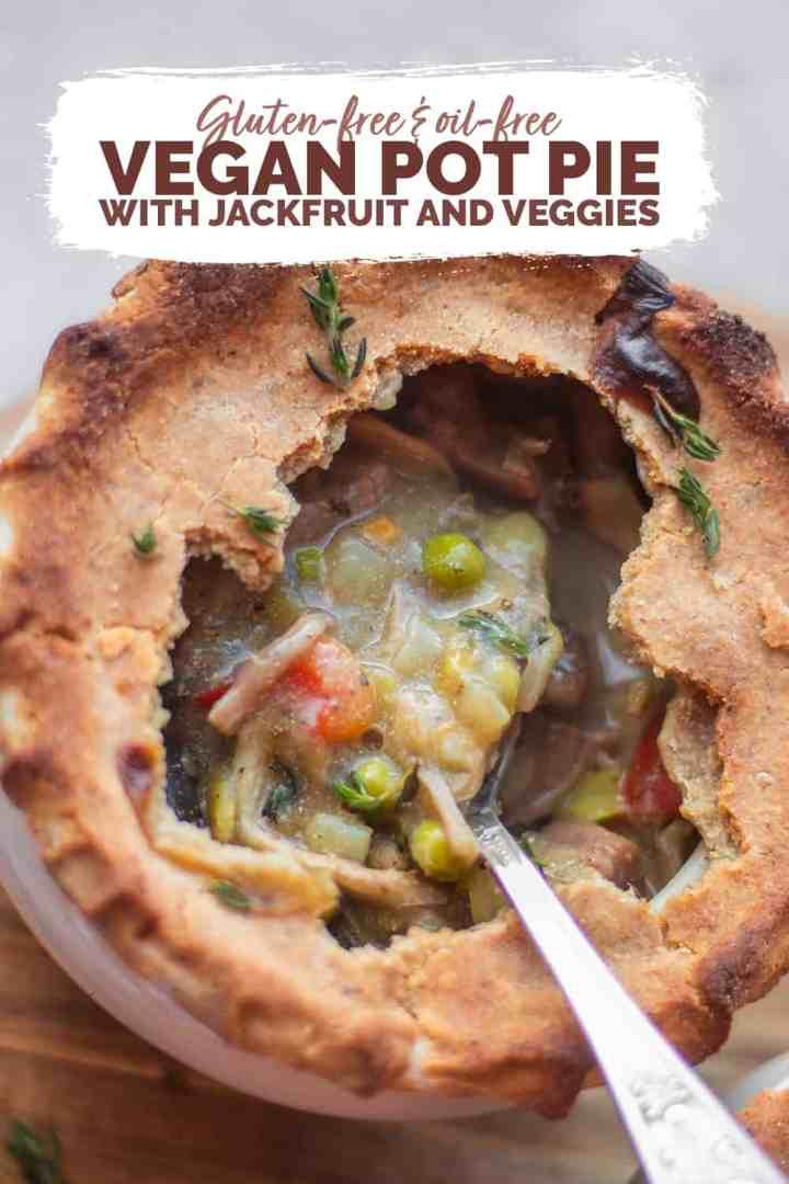 Gluten-free oil-free vegan pot pie jackfruit