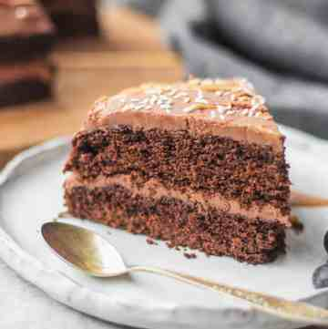 Easy gluten-free vegan chocolate cake