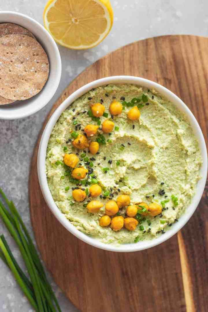 Vegan edamame hummus recipe