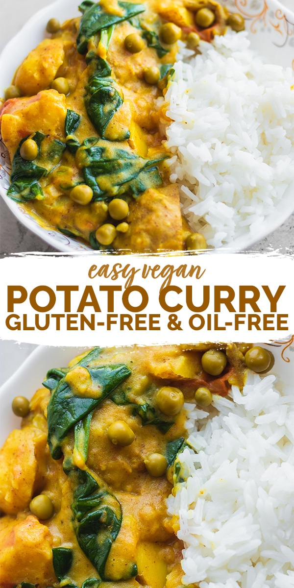 Easy vegan potato curry gluten-free Pinterest