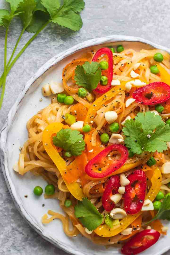 Close up of vegan Pad Thai