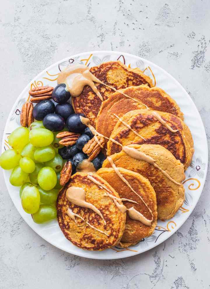 Vegan Sweet Potato Pancakes (Gluten-free)