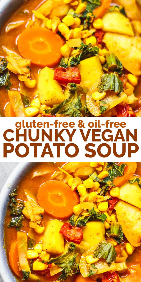 Chunky vegan potato soup Pinterest