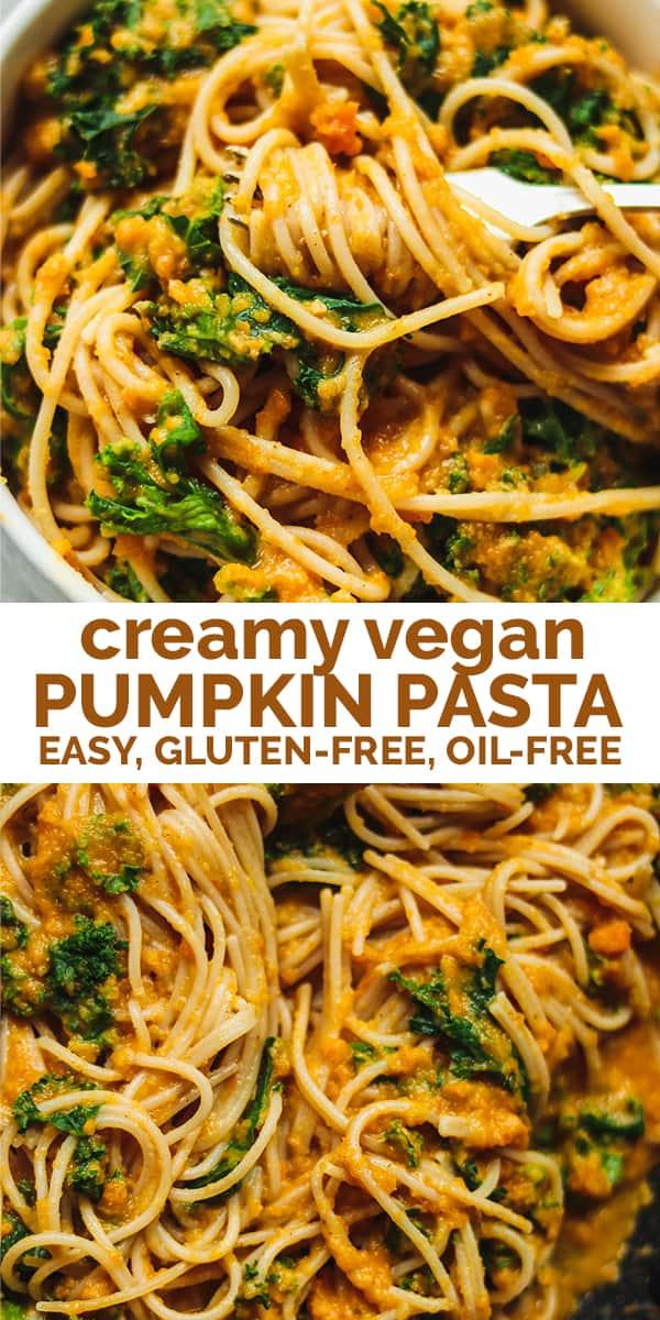 Creamy vegan pumpkin pasta Pinterest