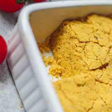 Easy vegan cornbread gluten-free oil-free