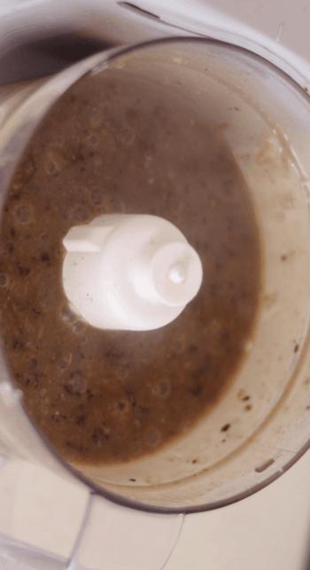 Vegan gravy in a food processor