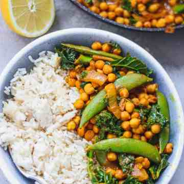 Vegan peanut chickpea curry gluten-free oil-free