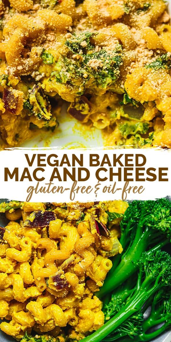 Vegan baked mac and cheese Pinterest