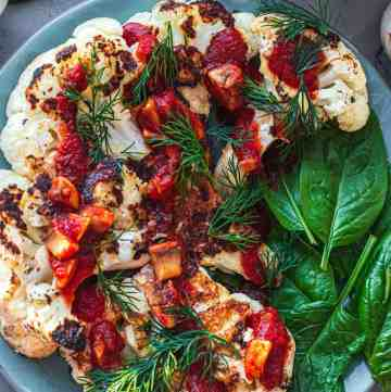 Vegan tahini cauliflower steak gluten-free