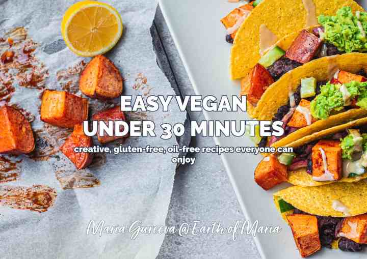 Easy vegan under 30 minutes front cover