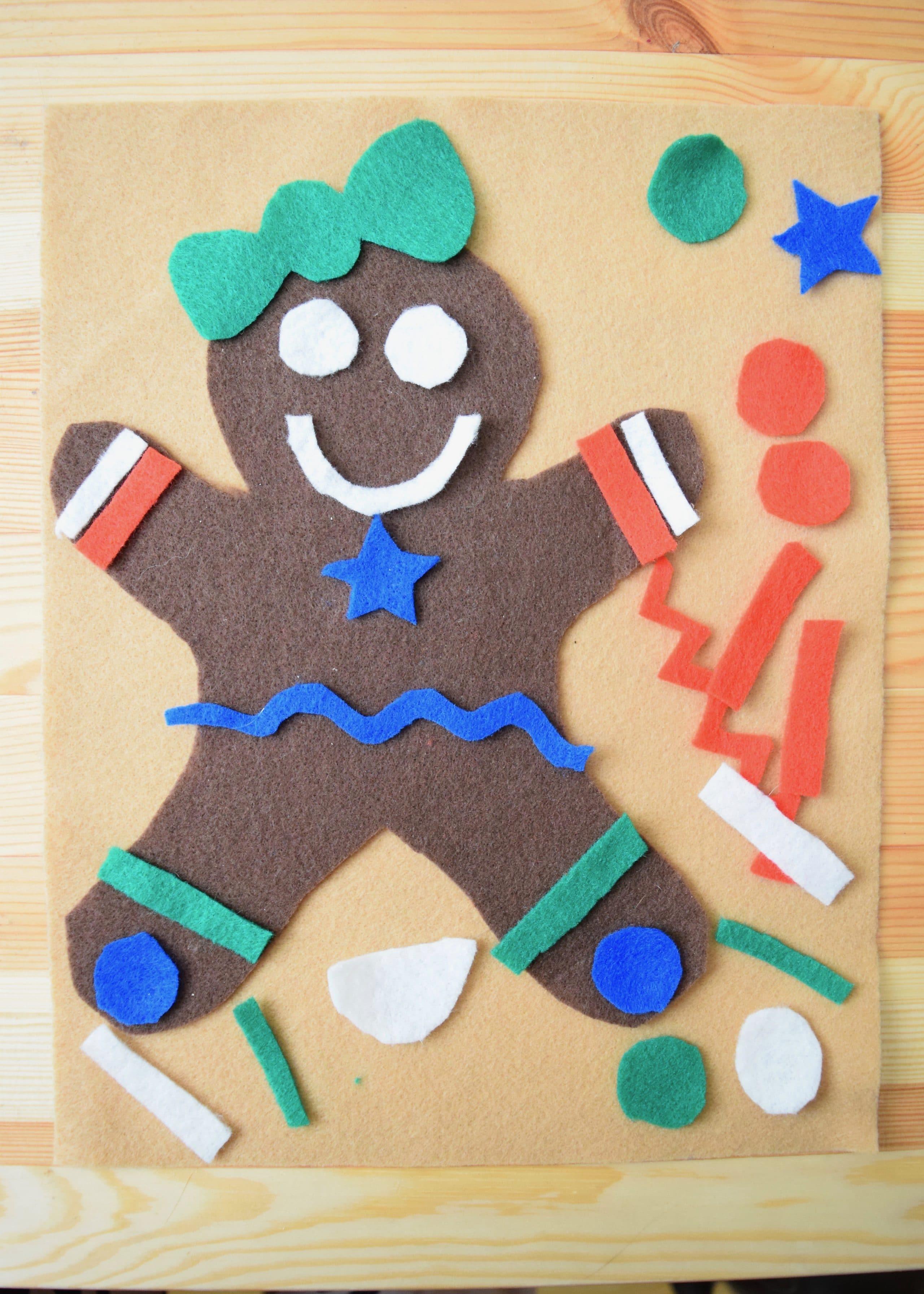 Felt Gingerbread Men