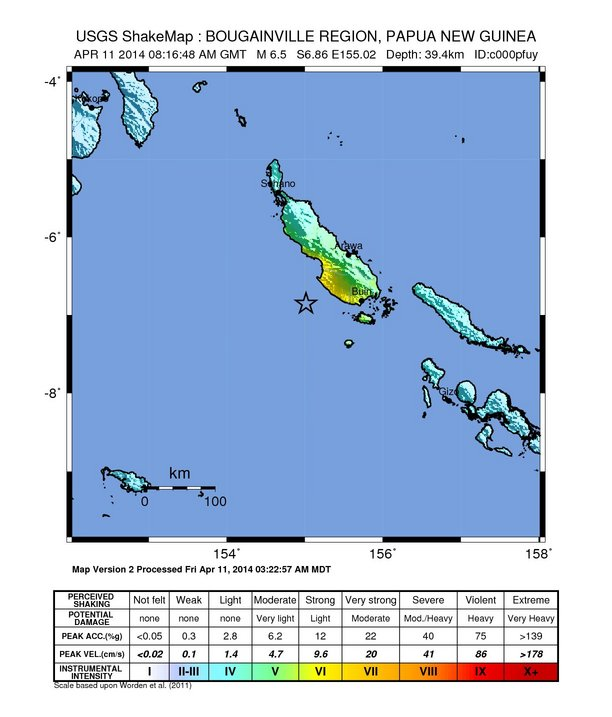 ShakeMap Intensity Image