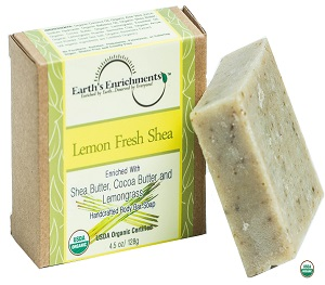 Bar Soap (USDA Organic) - Lemon Fresh Shea
