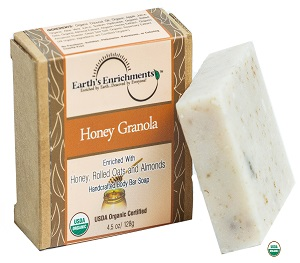 Organic Bar Soap (USDA) - Honey Granola