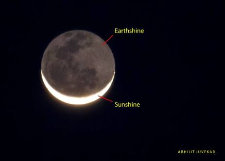 Crescent moon with earthshine on EarthSky | Today's Image | EarthSky